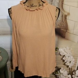Hippie Laundry Light Peach Colored Top Size XL